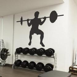 Adhésif silhouette gym