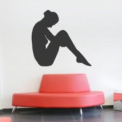 Adhésif femme assise