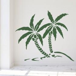 Sticker mural palmiers