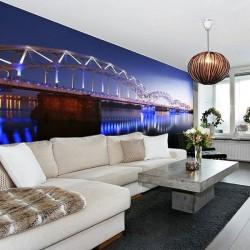 Déco murale pont illuminé
