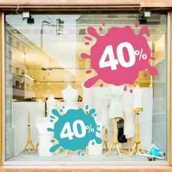 Sticker vitrine splash 40