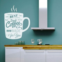 Sticker mural tasse de café