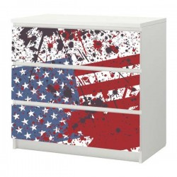 Sticker meuble U.S.A