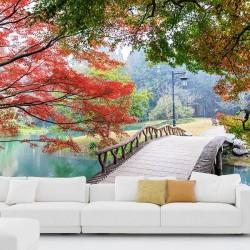 Papier peint jardin calme