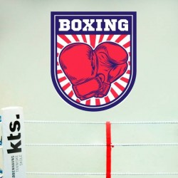 Sticker mural boxing