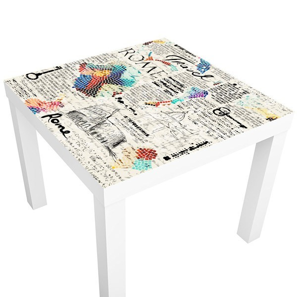 Sticker Table Ikea Voyage Europe