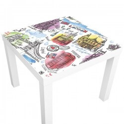 sticker ikea table londres ilustr. Black Bedroom Furniture Sets. Home Design Ideas