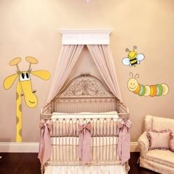 Sticker bébé girafe et ses...