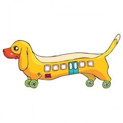 Sticker bébé chien saucisse