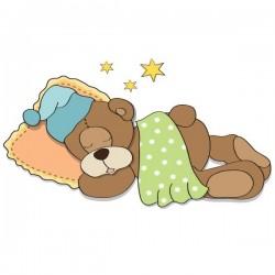 Sticker bébé de ours à bien...