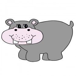 Sticker bébé hippopotame 1