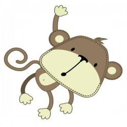 Sticker bébé singe