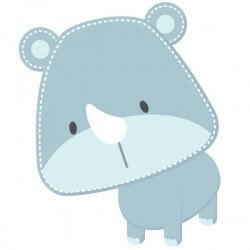 Adhésif bébé rhinocéros