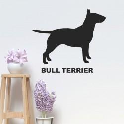 Autocollant bull terrier